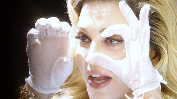 Madonna, durante el acto de promoción de su perfume en Nueva York