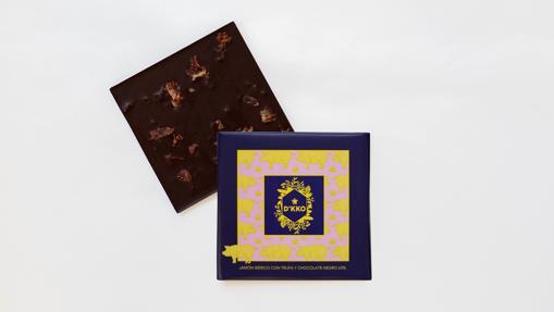 La tableta de chocolate Península de Flor D'KKO con jamón y trufa negra