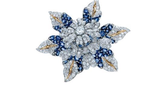 Broche de diamantes y esmeraldas de 1887
