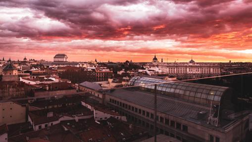 Vistas al Palacio Real desde la terraza Ginkgo Restaurante & Sky Bar