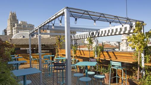 La terraza Ático 11 en Iberostar Las Letras Gran Vía