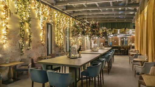 One of the spaces of the Vincci Soho hotel