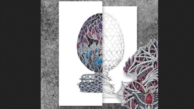 Huevo de Fabergé inspirado en Juego de Tronos