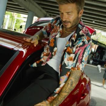 David Beckham in the Maserati campaign