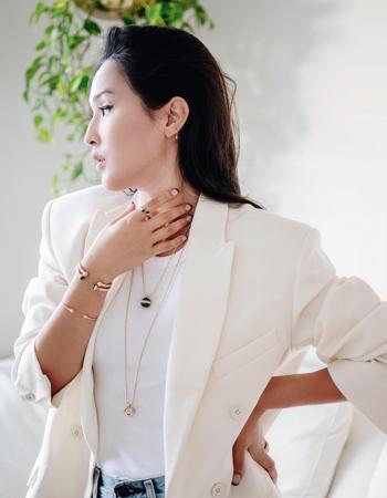 Nicole Warne with Piaget jewelry
