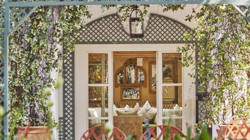 Una de las zonas de El Patio del hotel Marbella Club