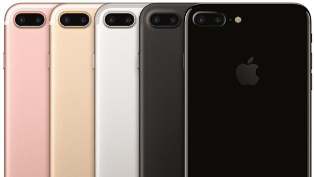Detalle del modelo iPhone 7 Plus, modelo más reciente de la firma