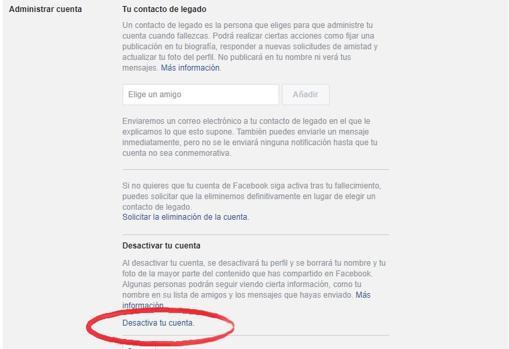 Temporalmente facebook desactivar Cómo eliminar
