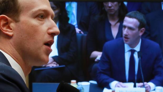 Zuckerberg, durante su comparecencia en Washington