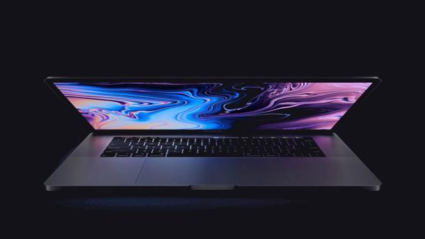 Detalle de un MacBook Pro