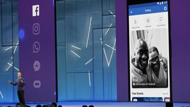 Mark Zuckerberg, fundador de Facebook, durante una presentación