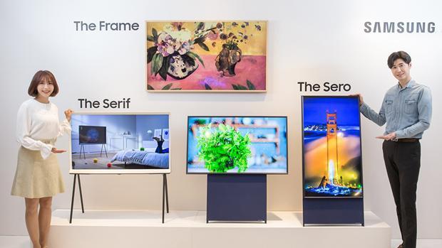 Los nuevos televisores The Frame, The Serif y The Sero, el vertical