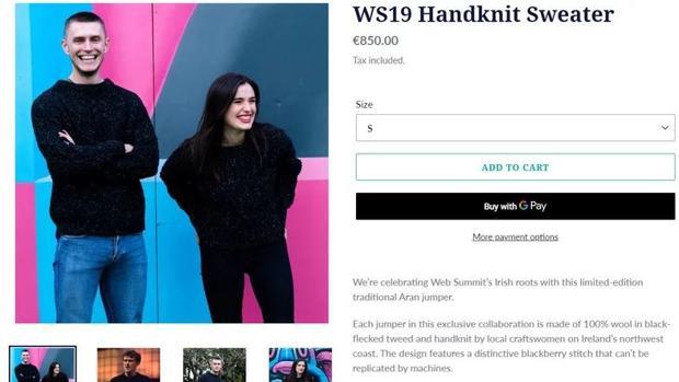 Polémica en la Web Summit: 850 euros por un jersey como el de Paddy Cosgrave