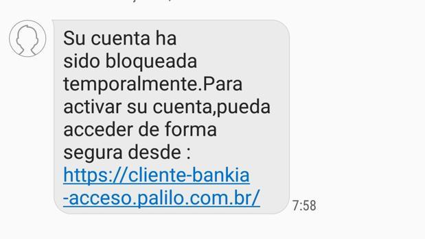 Si le llega este SMS de su banco le están intentando robar el dinero