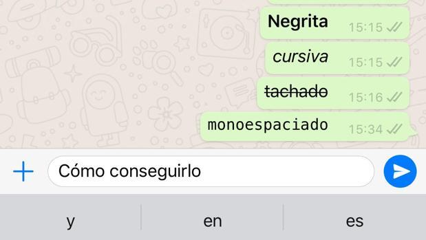 WhatsApp: el truco para escribir en negrita, en cursiva y tachado