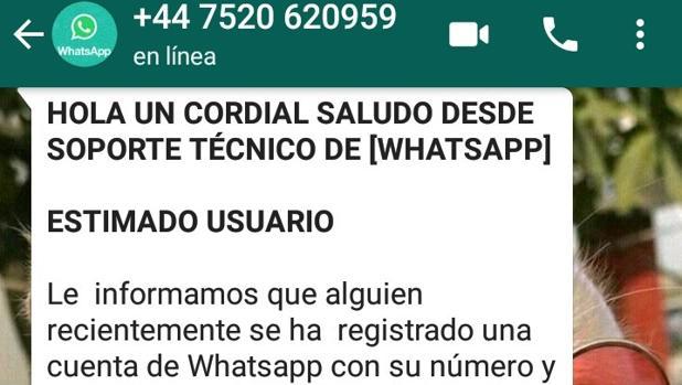 WhatsApp: si recibe este mensaje le están intentando robar la cuenta