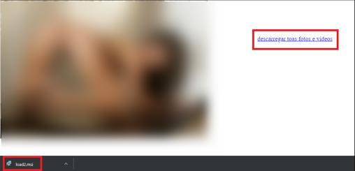Imagen de la página pornográfica en la que se aloja el virus