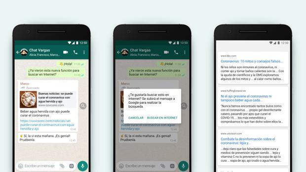 WhatsApp lanza una función para combatir los bulos dentro de la aplicación