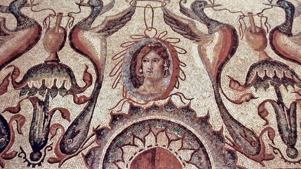 Uno de los mosaicos que se pueden ver en La Olmeda