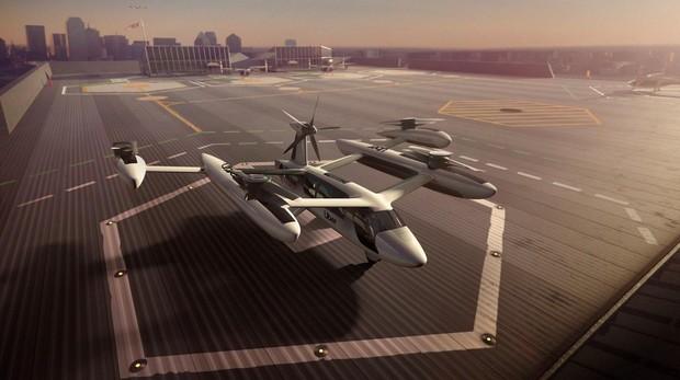 Fotografía cedida por Uber de una ilustración de concepto del «ubercóptero» eCRM-003. Desde el martes es una realidad: los «ubercópteros» ya surcan Nueva York y conectan la isla de Manhattan con el aeropuerto JFK en apenas ocho minutos