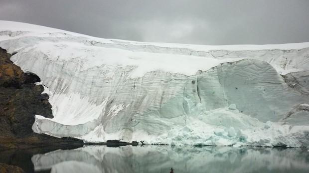 El glaciar Pastoruri situado dentro del Parque Nacional Huascarán
