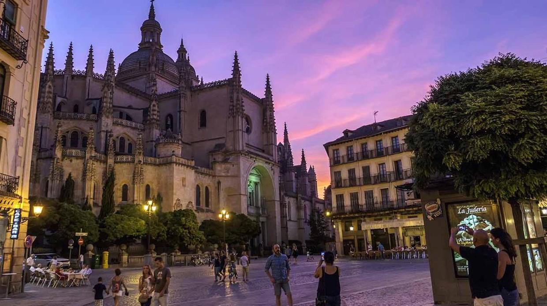 Atardecer desde la catedral de Segovia