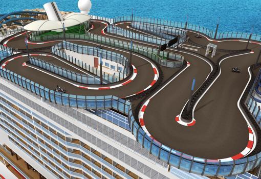 Una pista de karts de 340 metros en el Norwegian Encore