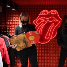 A corner of the first Rolling Stones store